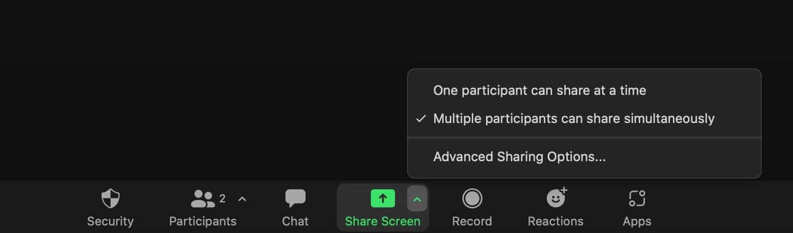 允许参会者共享屏幕